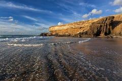 Baie de La épluchée, Fuerteventura, Îles Canaries Images stock