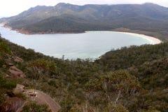 Baie de la Tasmanie Coles de baie en verre de vin Photographie stock libre de droits
