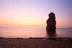 Baie de Ladram en Devon, R-U photographie stock libre de droits