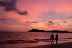 Baie de Lagoi, Bintan, Indonésie Photos stock