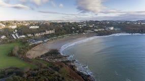 Baie de Langland à Swansea Image libre de droits