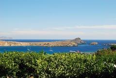 Baie de Lindos, Grèce Image stock