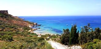 Baie de luxe de Gozo image libre de droits