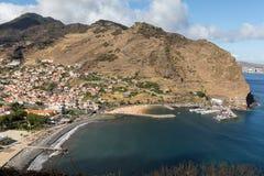 Baie de Machico sur la Côte Est de l'île de la Madère Photos libres de droits