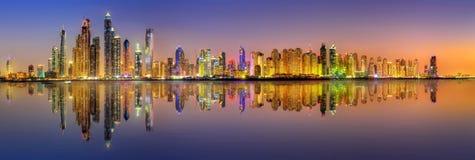 Baie de marina de Dubaï, EAU Image stock