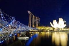Baie de marina de nuit Image stock