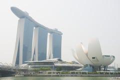 BAIE DE MARINA, SINGAPOUR 13 OCTOBRE 2015 : La recherche de sable de baie de marina Photos stock