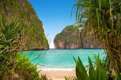 Baie de Maya d'île de Phi-phi Image libre de droits