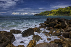 Baie de Menganti Photo stock