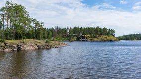 Baie de monastère de paysage Photo libre de droits