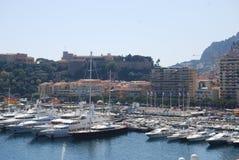 Baie de Monte Carlo, Monaco, marina, ville, port, dock Photos stock