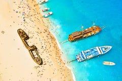 Baie de naufrage, île de Zakynthos, Grèce Photos libres de droits