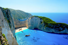 Baie de Navagio Photos stock