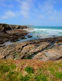 Baie de Newtrain les Cornouailles du nord près de Padstow et de Newquay photos stock