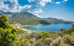 Baie de Nichiareto on west coast of Corsica Royalty Free Stock Images