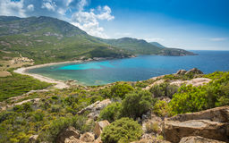Baie de Nichiareto on west coast of Corsica Stock Photo