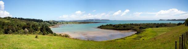Baie de panorama d'îles près de Paihia Image stock