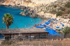 Baie de paradis à Malte Images stock