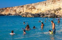 Baie de paradis à Malte Image libre de droits