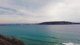 Baie de Patroclus un jour nuageux banque de vidéos