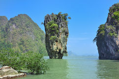 Baie de Phang Nga Photos stock