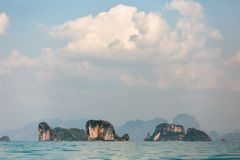 Baie de Phang Nga en Thaïlande Photos stock