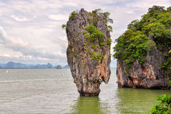 Baie de Phang Nga, île de James Bond, Thaïlande Photos libres de droits