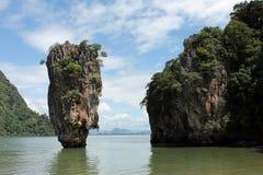Baie de Phang Nga, Thaïlande Images libres de droits