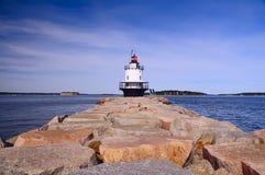 Baie de phare Photographie stock libre de droits