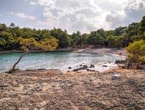 Baie de Phaselis - amyuva, Kemer, côte et plages de ‡ de à de la Turquie Images stock