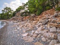 Baie de Phaselis - amyuva, Kemer, côte et plages de ‡ de à de la Turquie Photographie stock
