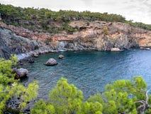 Baie de Phaselis - amyuva, Kemer, côte et plages de ‡ de à de la Turquie Image libre de droits