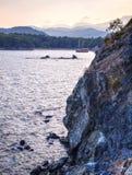 Baie de Phaselis - amyuva, Kemer, côte et plages de ‡ de à de la Turquie Photos stock