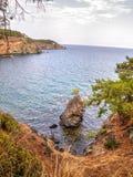 Baie de Phaselis - amyuva, Kemer, côte et plages de ‡ de à de la Turquie Photo stock