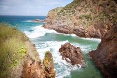 Baie de Plemont, Jersey, îles de la Manche Photographie stock