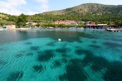 Baie de Posidonio Île de Samos La Grèce Photo libre de droits