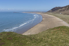 Baie de Rhossili, Gower Peninsula photos stock