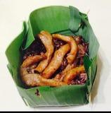 Baie de riz brun image libre de droits