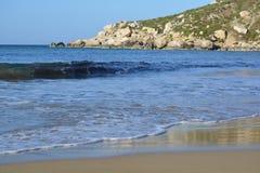 Baie de Selmun (baie d'iebaħ de ¡ d'ImÄ) Photo stock