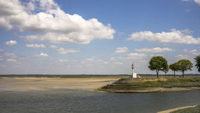 Baie de somme. Lighthouse in baie de somme, france royalty free stock photos