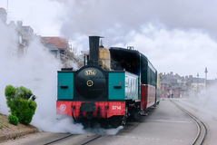 Train de la Baie de Somme Railway. Steam locomotive from the tourist train of the Somme Bay royalty free stock image