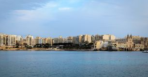 Baie de Spinola, Malte, St Julian photographie stock