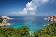 Baie de Testa de capo en Sardaigne. Italie images libres de droits