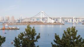 Baie de Tokyo et pont en arc-en-ciel, Japon photo libre de droits