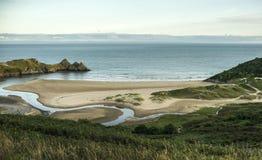 Baie de trois falaises Photos libres de droits