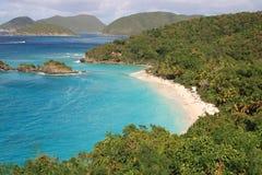 Baie de tronc, St John, USA Îles Vierges Images stock