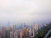 Baie de Victoria en Hong Kong, Chine image libre de droits