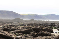 Baie de Widemouth Photographie stock