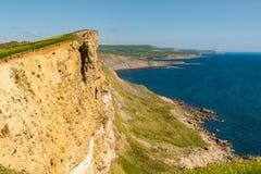 Baie de Worbarrow, côte jurassique, Dorset, R-U images libres de droits