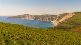 Baie de Worbarrow, côte jurassique, Dorset, R-U photo libre de droits